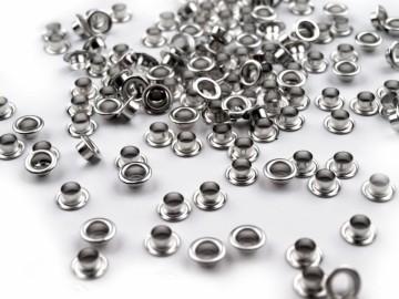 Průchodky kovové (10 ks), platina